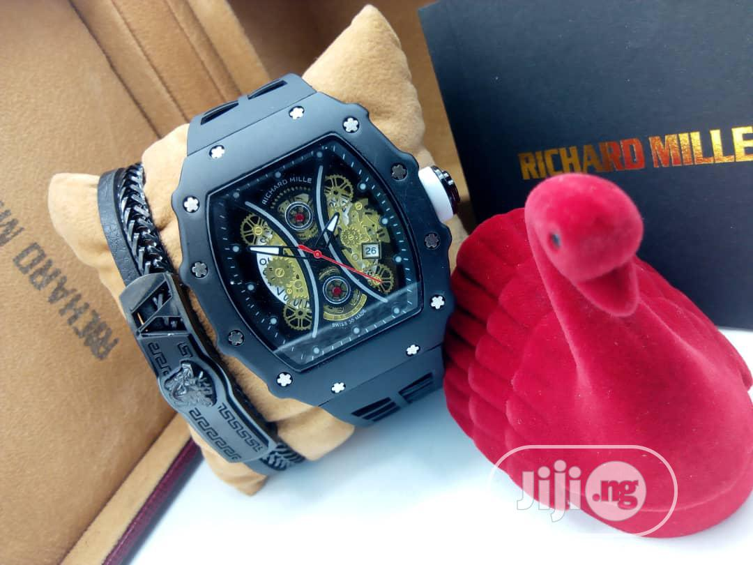 Richard Mille Wristwatch With Free Bracelet | Jewelry for sale in Isolo, Lagos State, Nigeria