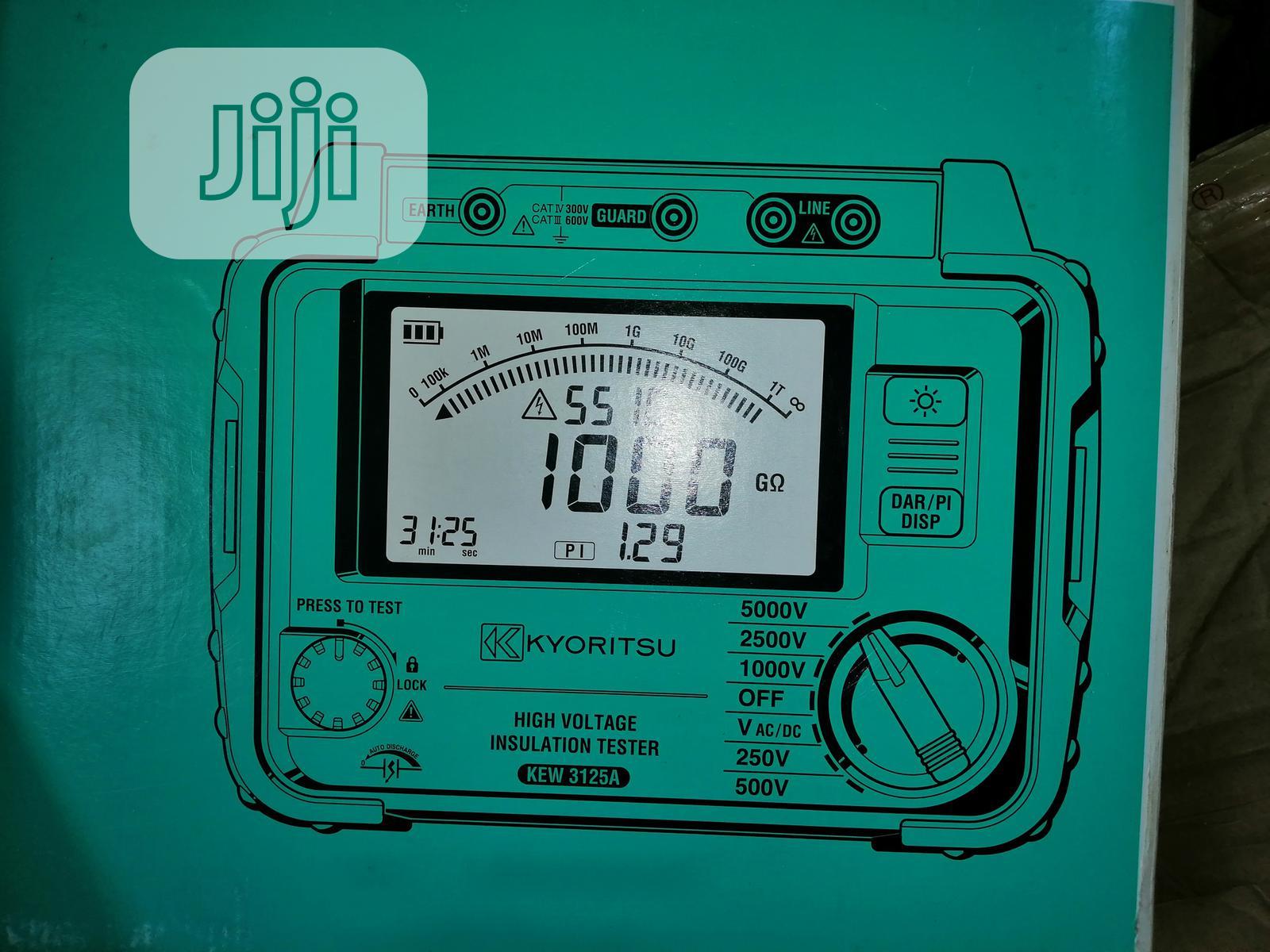 KYORITSU High Voltage Insulation Tester 5KV KEW 3125A | Measuring & Layout Tools for sale in Apapa, Lagos State, Nigeria