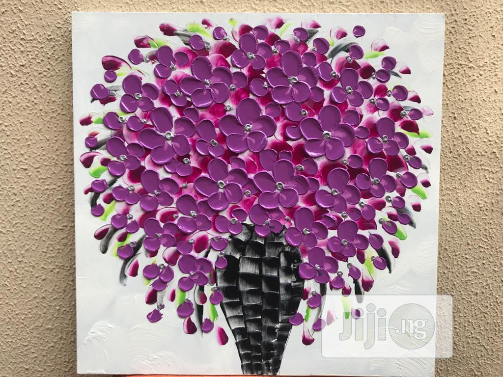 Archive: 100% Hand-painted 60x60cm Flower Vase Oil On Painting