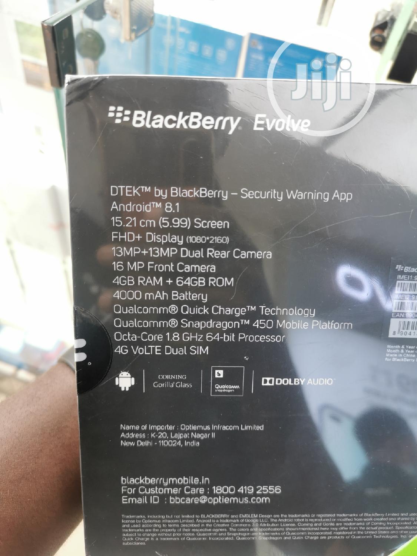 New BlackBerry Evolve 64 GB Black | Mobile Phones for sale in Ikeja, Lagos State, Nigeria
