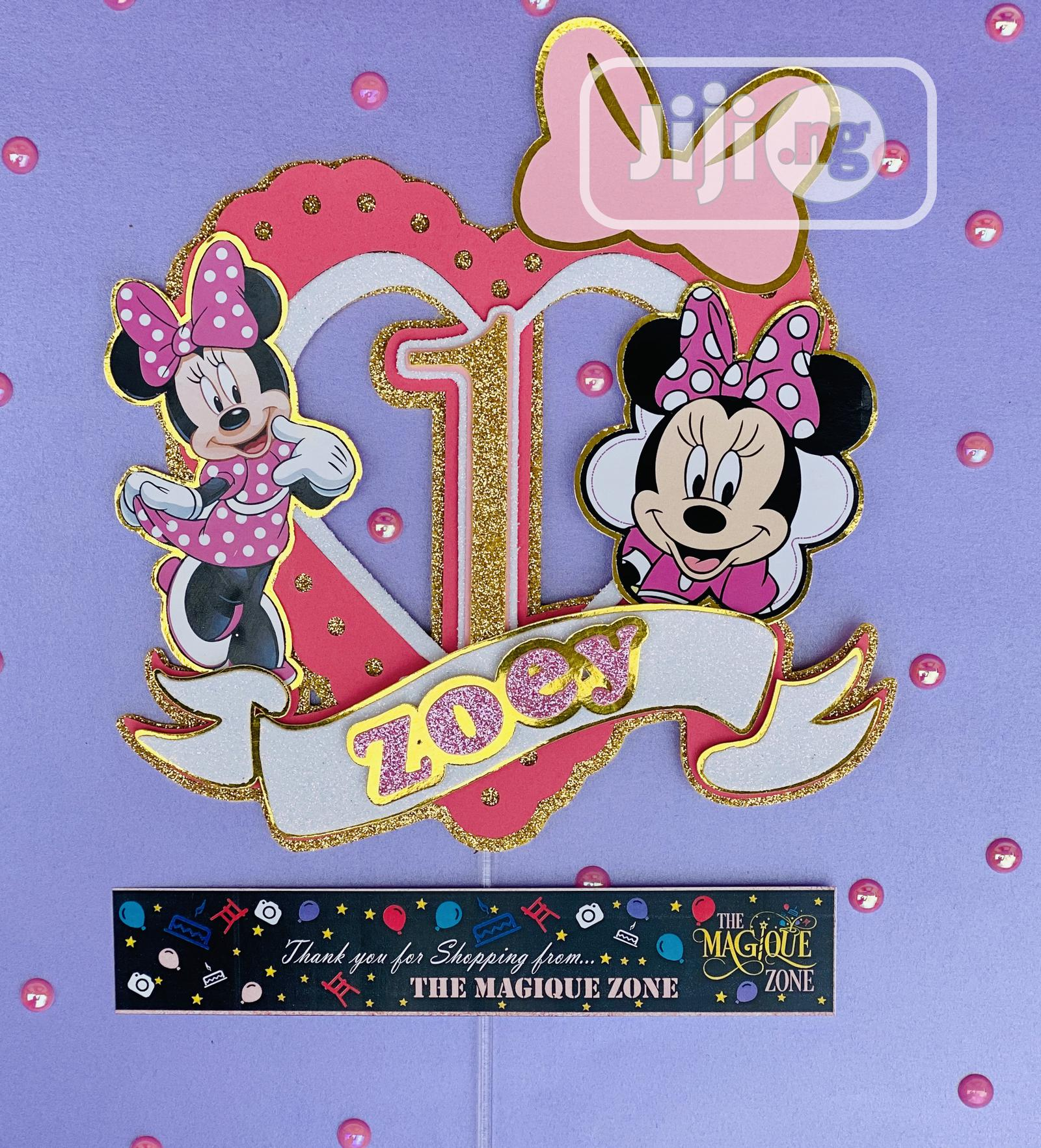 3D Minnie Themed Cake Topper | Party, Catering & Event Services for sale in Ojodu, Lagos State, Nigeria