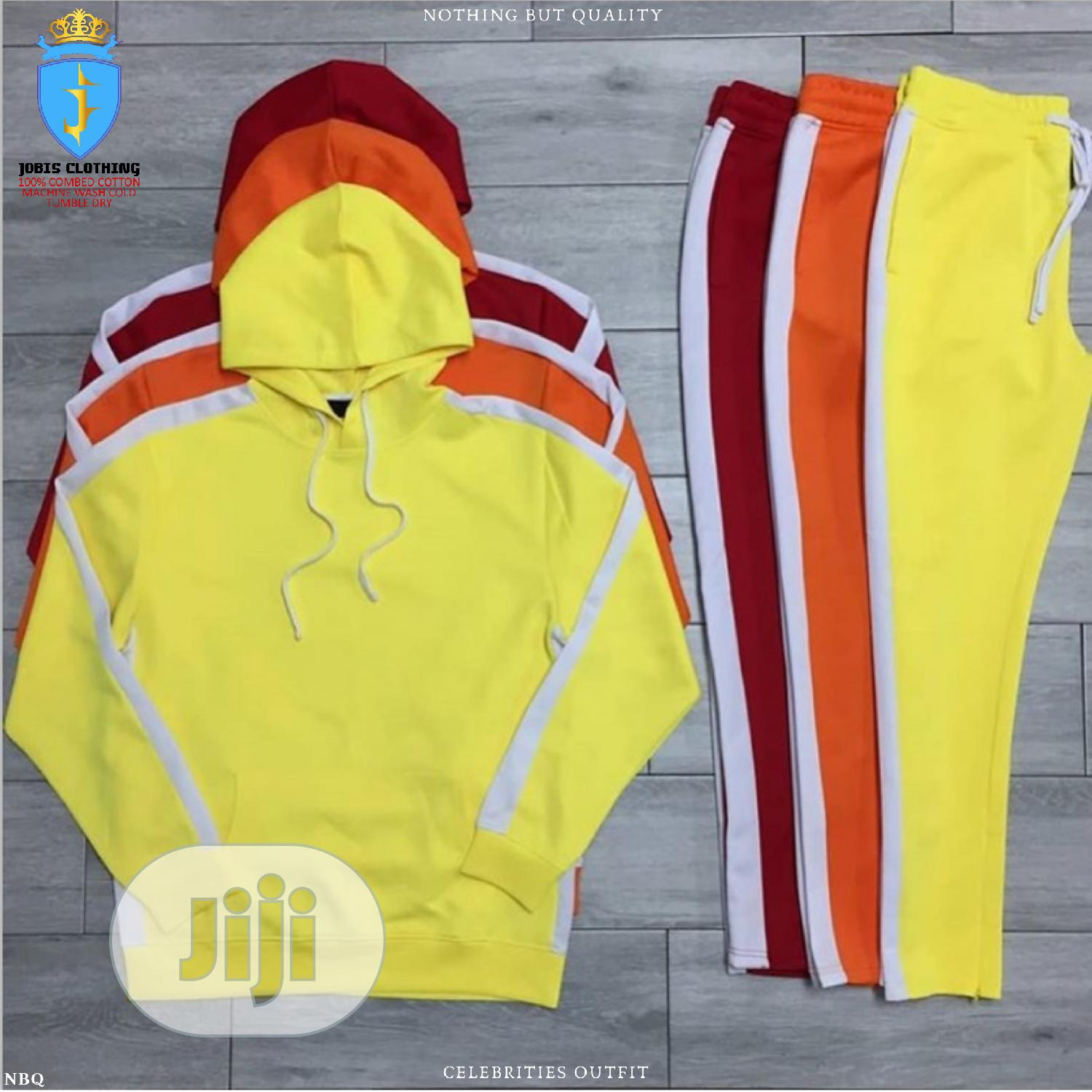 3pcs Men Multcolor Track Suit Outfit | Clothing for sale in Lagos Island (Eko), Lagos State, Nigeria