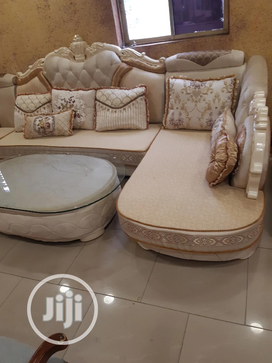 L Shape Turkish Fabric Sofa | Furniture for sale in Ojo, Lagos State, Nigeria