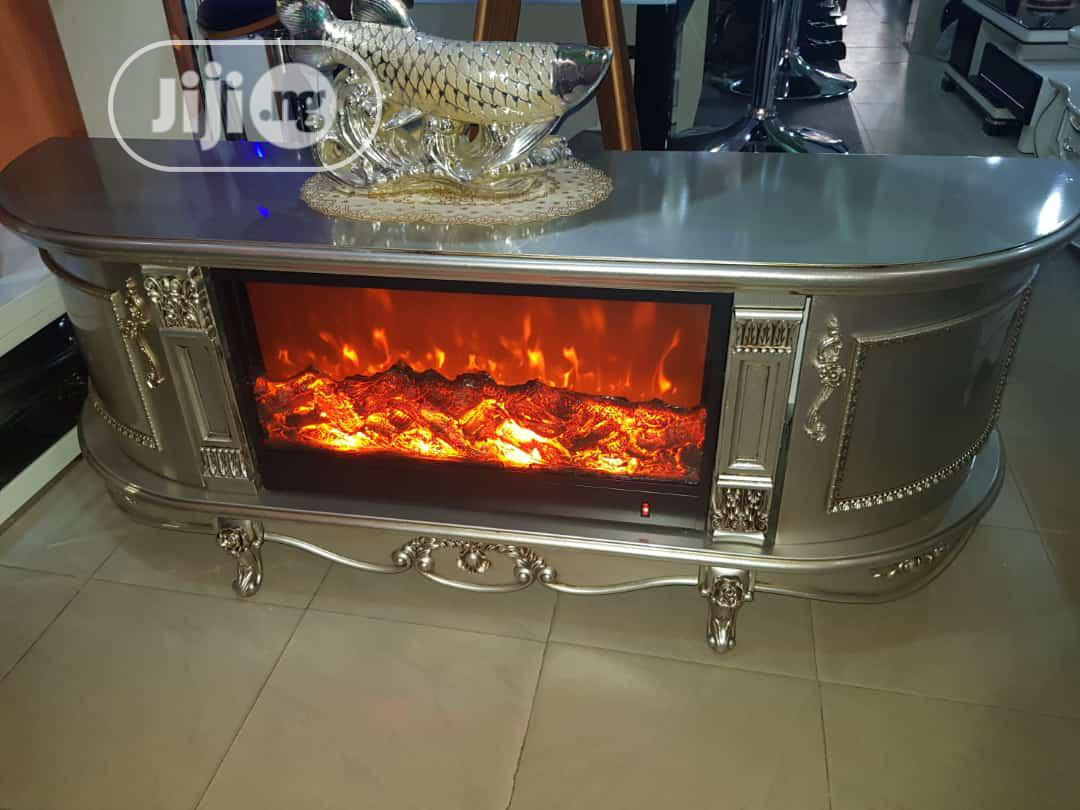 Tv Stand With Fire Plate