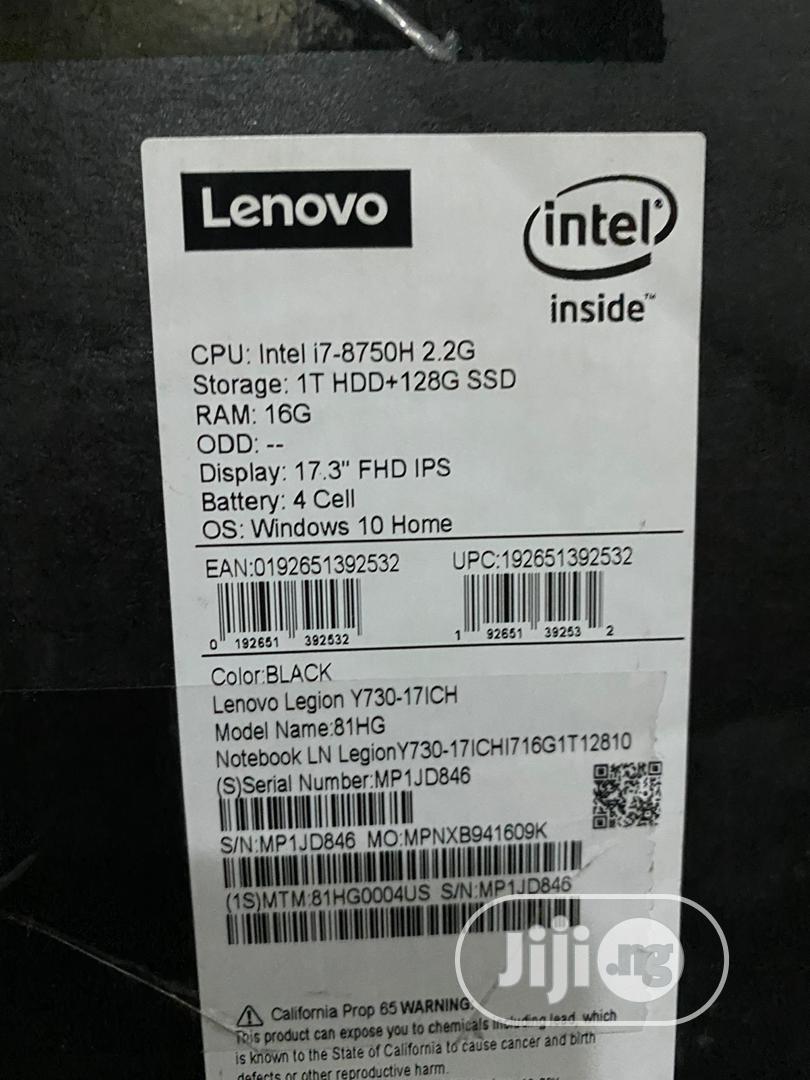 Laptop Lenovo Legion Y730 16GB Intel Core I7 SSHD (Hybrid) 1T