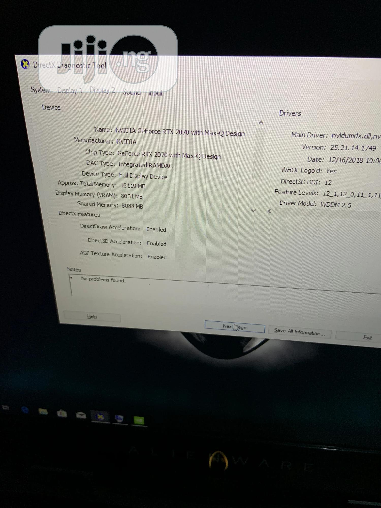Laptop Dell Alienware M17X 16GB Intel Core I7 SSHD (Hybrid) 1T | Laptops & Computers for sale in Ikeja, Lagos State, Nigeria