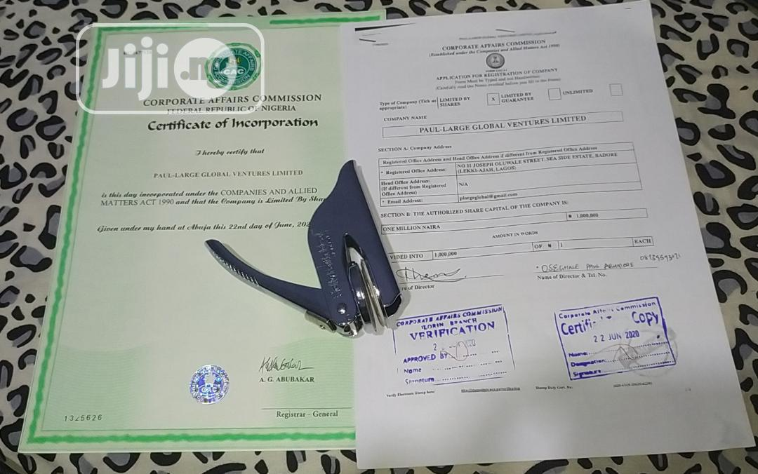 Archive: Company Registration With CAC