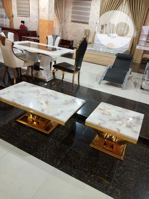 White Center Table With Side Stool   Furniture for sale in Lagos State, Ojo
