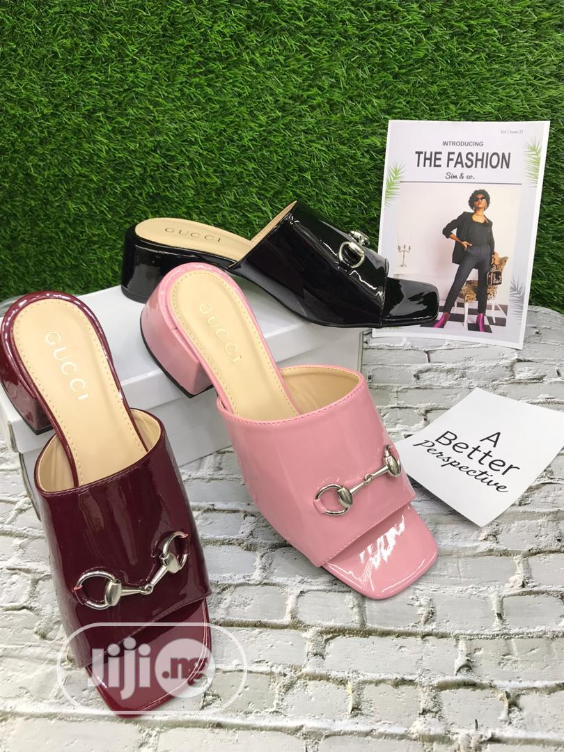 Quality Short Heel Gucci Shoe for Women