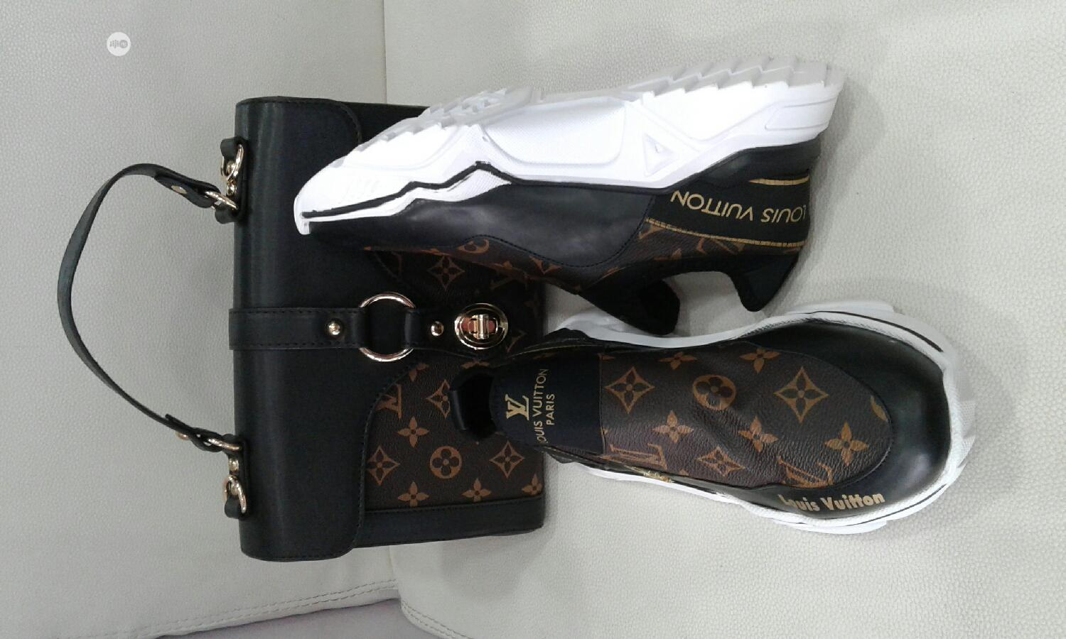 Louis Vuitton Bag With Shoe and Purse