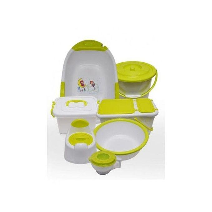 Lemon And White Mothercare Bath Set