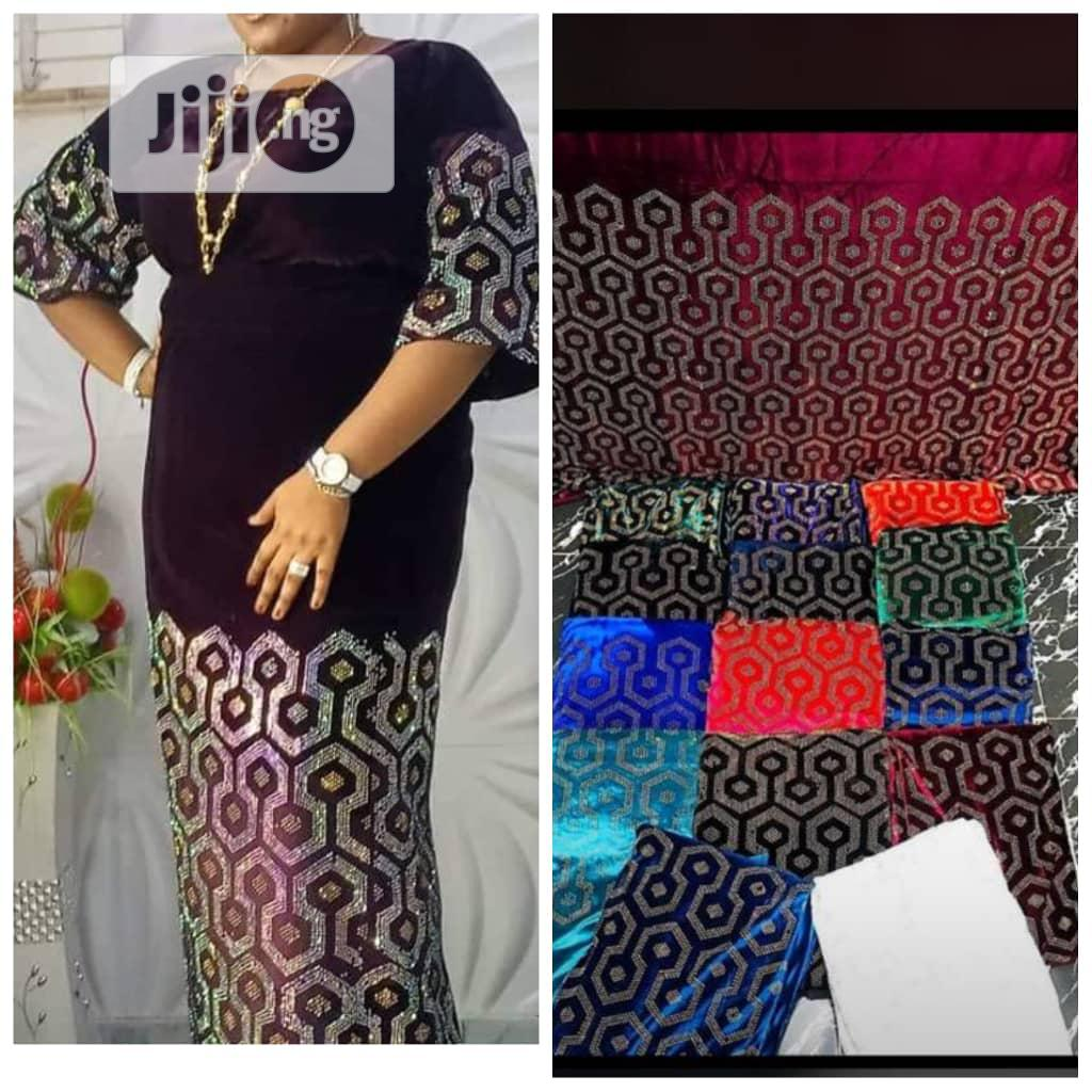 Beautiful Velvet Fabrics | Clothing for sale in Ikeja, Lagos State, Nigeria