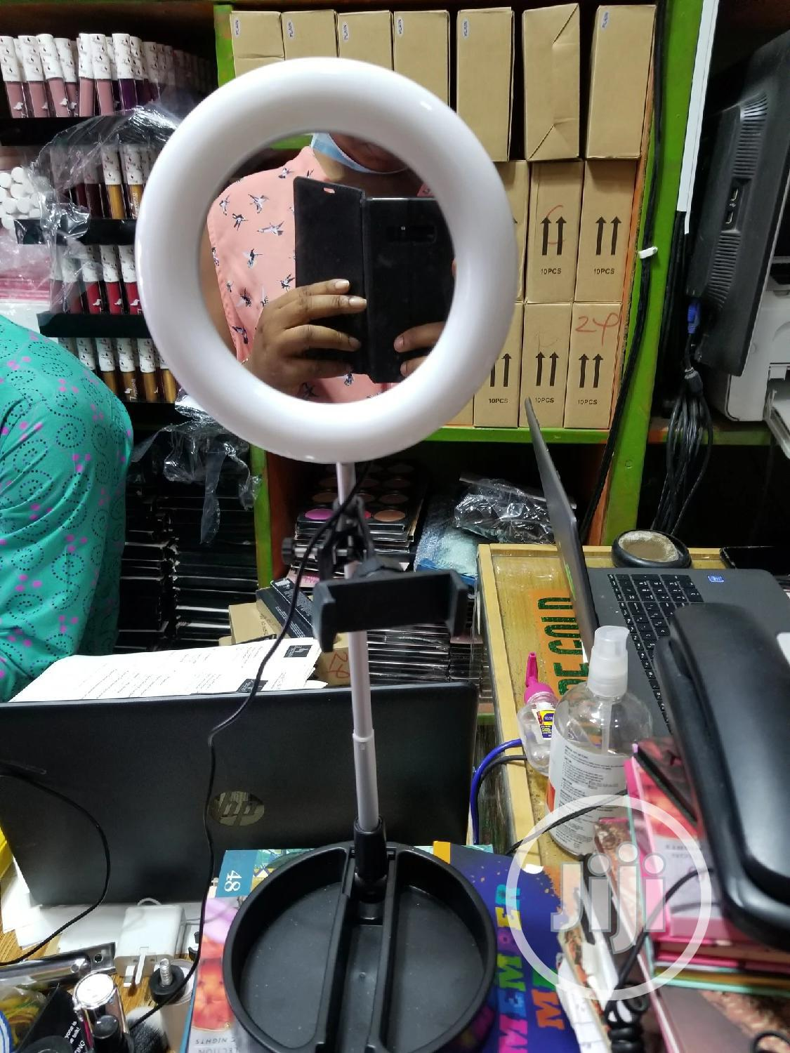 Foldable Ring Light With Phone Holder And Mirror.