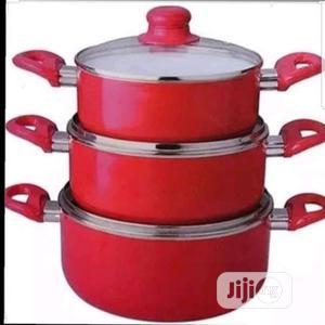 Kinelco Non Stick 3pcs Pot | Kitchen & Dining for sale in Lagos State, Lagos Island (Eko)