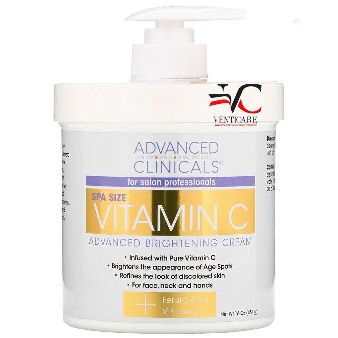 Advanced Clinicals Vitamin C Advanced Brightening Cream 454g