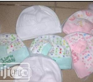 Baby Cap With Mitten And Socks | Children's Clothing for sale in Lagos State, Lagos Island (Eko)