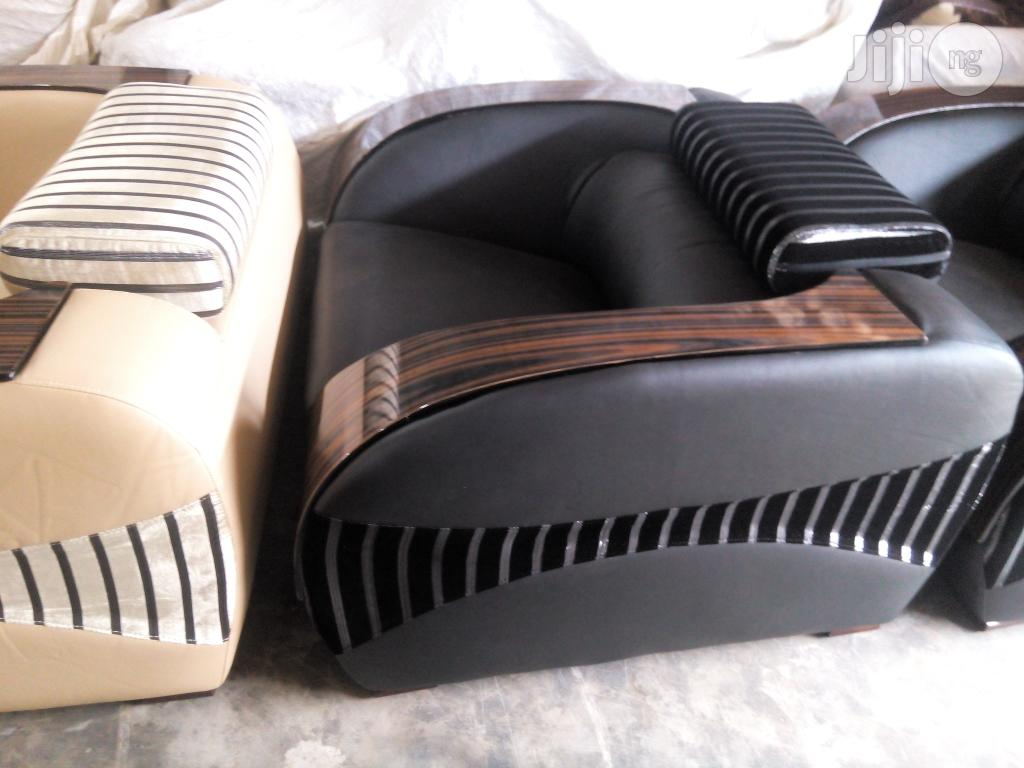 Archive: Animal Skin Leather Sofa Chair Set By 7 Seaters (Model F014)