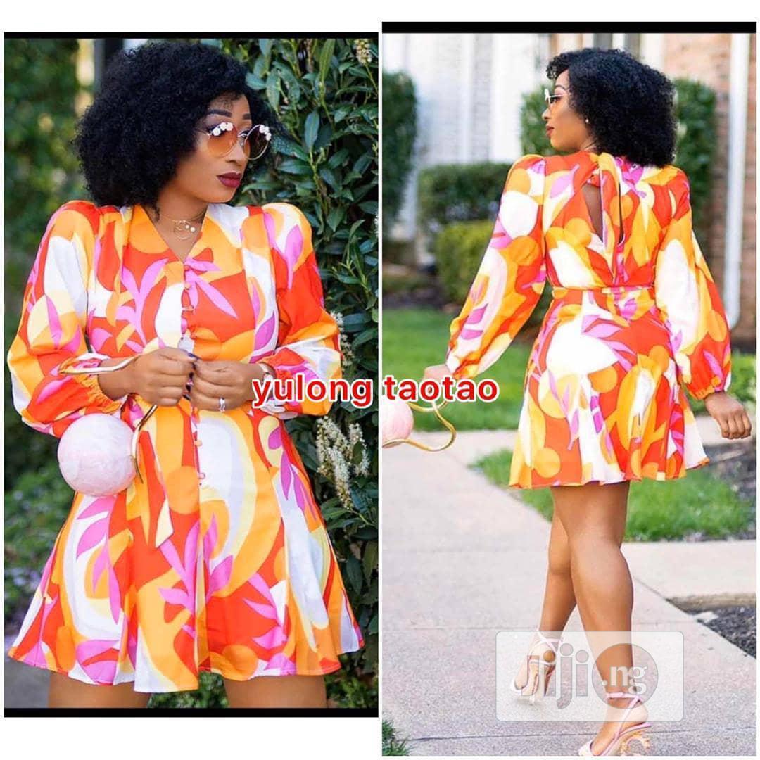 Cute Short Floral Print Dress