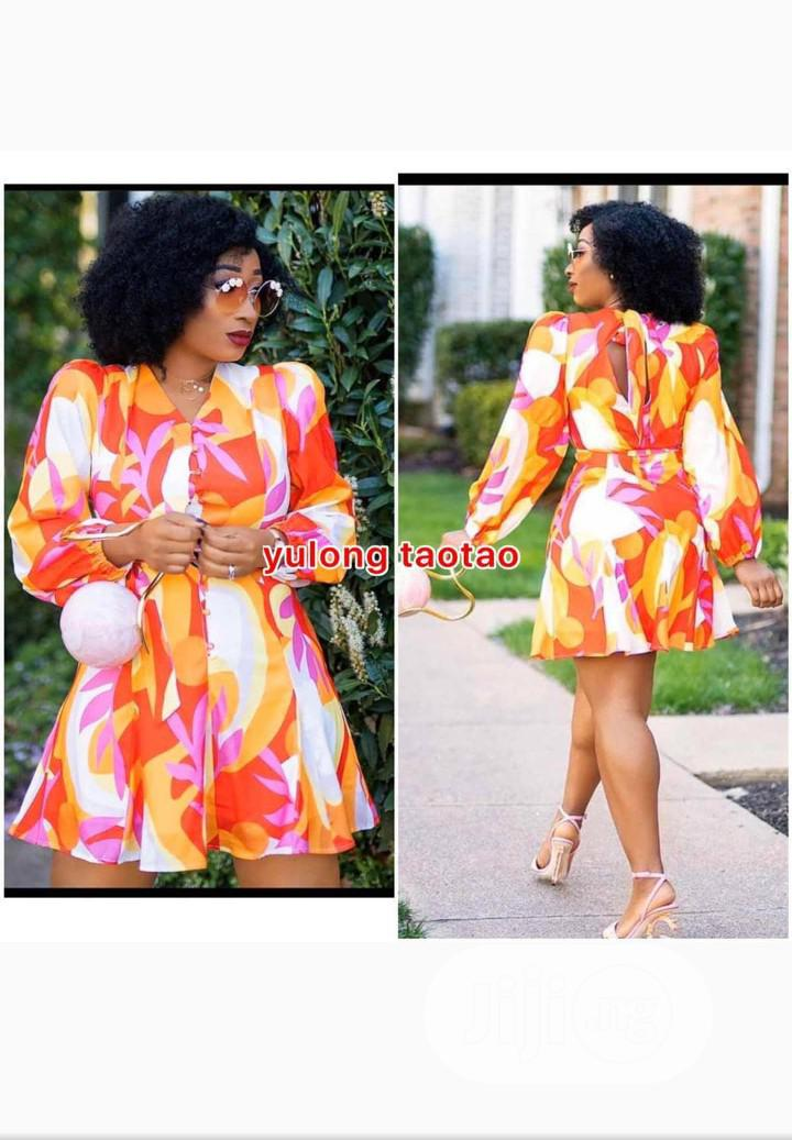 Cute Short Floral Print Dress   Clothing for sale in Ikeja, Lagos State, Nigeria