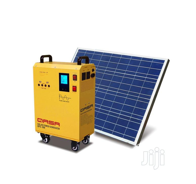 Qasa Solar Power Generator QPG-500 100w Panel QSP-100W18