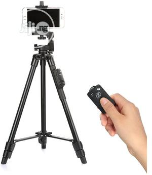 YUNTENG 5208 Aluminum Tripod 3-way Head & Bluetooth Remote | Accessories & Supplies for Electronics for sale in Lagos State, Ikeja