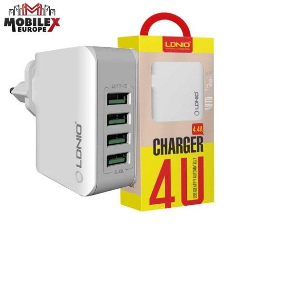 LDNIO Premium 4 USB Rapid Travel Charger With Auto-id Tech