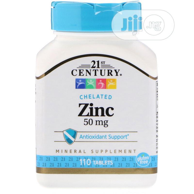 21st Century Chelated Zinc 50mg (Antioxidant Support) 110tab