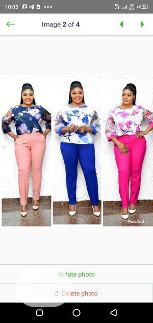 New Ladies Formal Flower Print Top and Trousers | Clothing for sale in Lagos State, Ikeja
