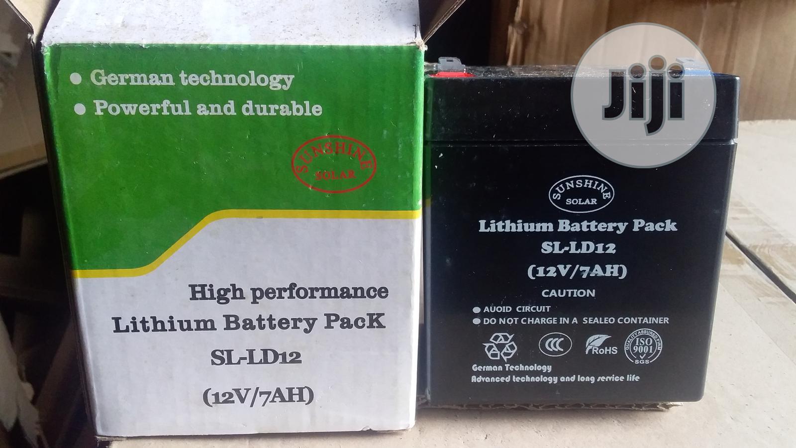 Brazel Sunshine Solar Lithium Battery Pack 12 V / 7 Amps   Solar Energy for sale in Ojo, Lagos State, Nigeria