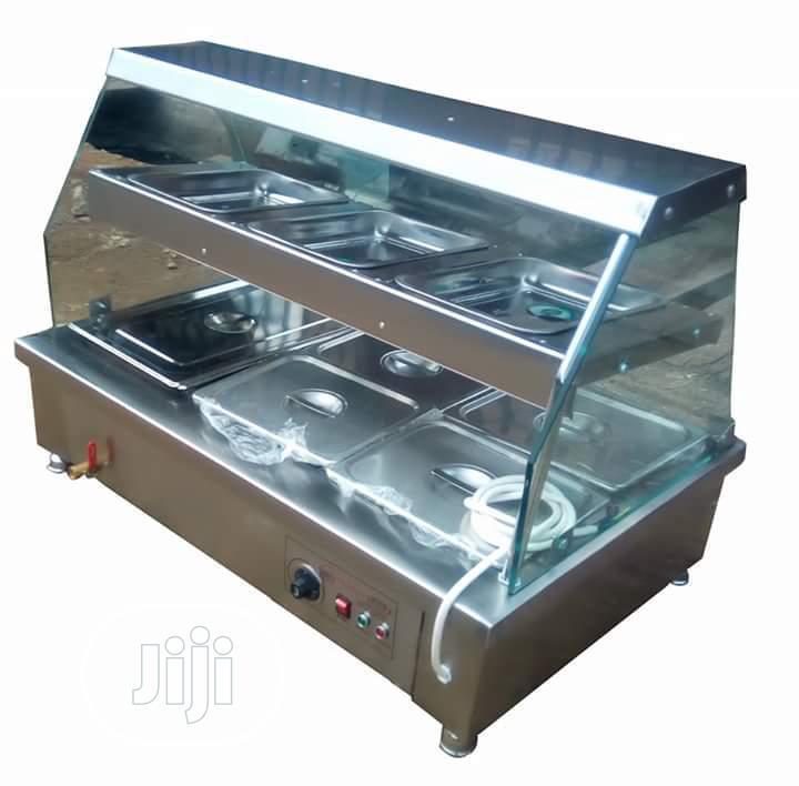 6 Tray Food Warmer Display