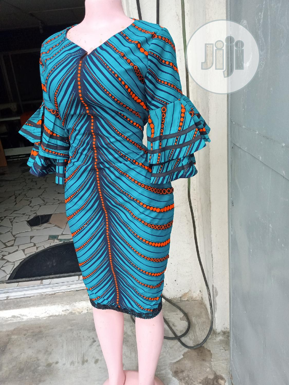 Sophisticated Ankara Dress