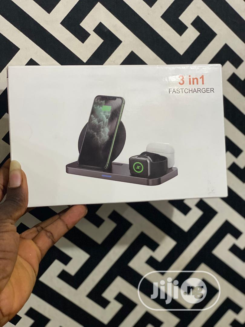 3in1 Wireless Charging Station | Accessories for Mobile Phones & Tablets for sale in Ikeja, Lagos State, Nigeria