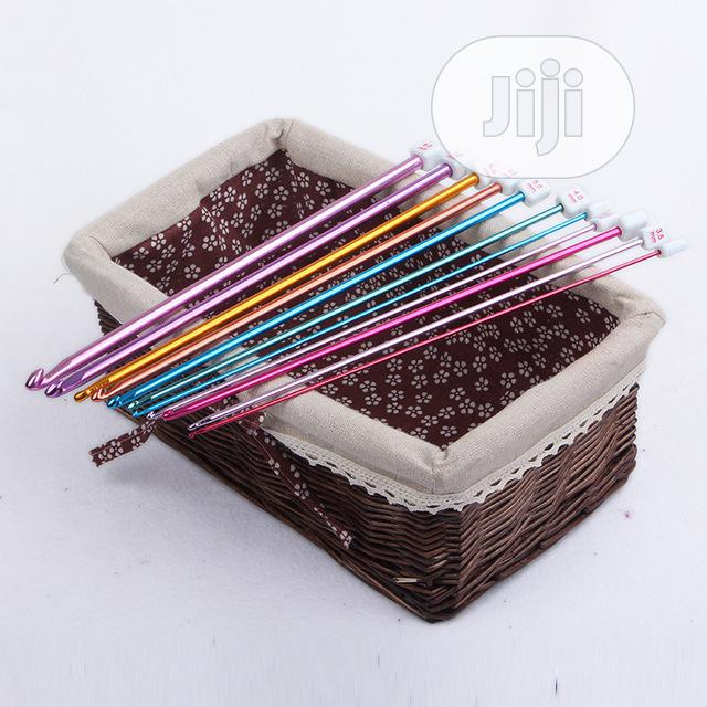 Aluminum TUNISIAN AFGHAN Crochet Hook Knit Needles Set | Arts & Crafts for sale in Kubwa, Abuja (FCT) State, Nigeria