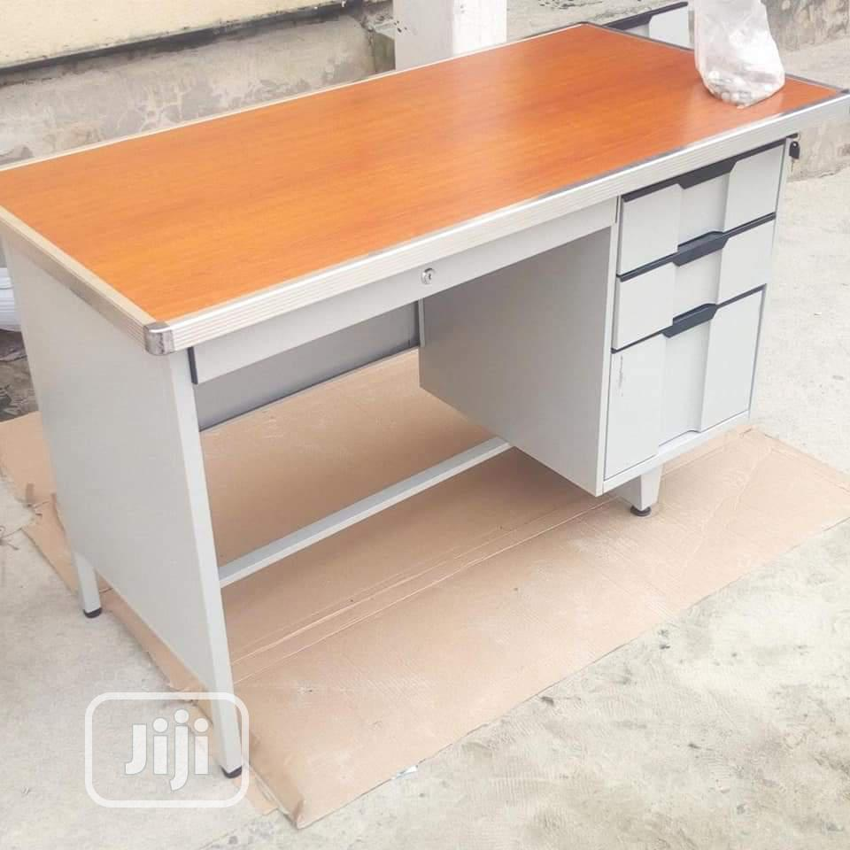 Metal Office Table Three Drawers By The Side
