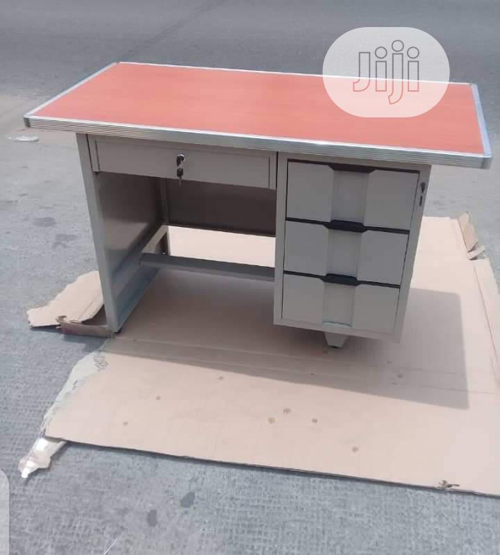 Metal Office Table Three Drawers By The Side   Furniture for sale in Ojo, Lagos State, Nigeria