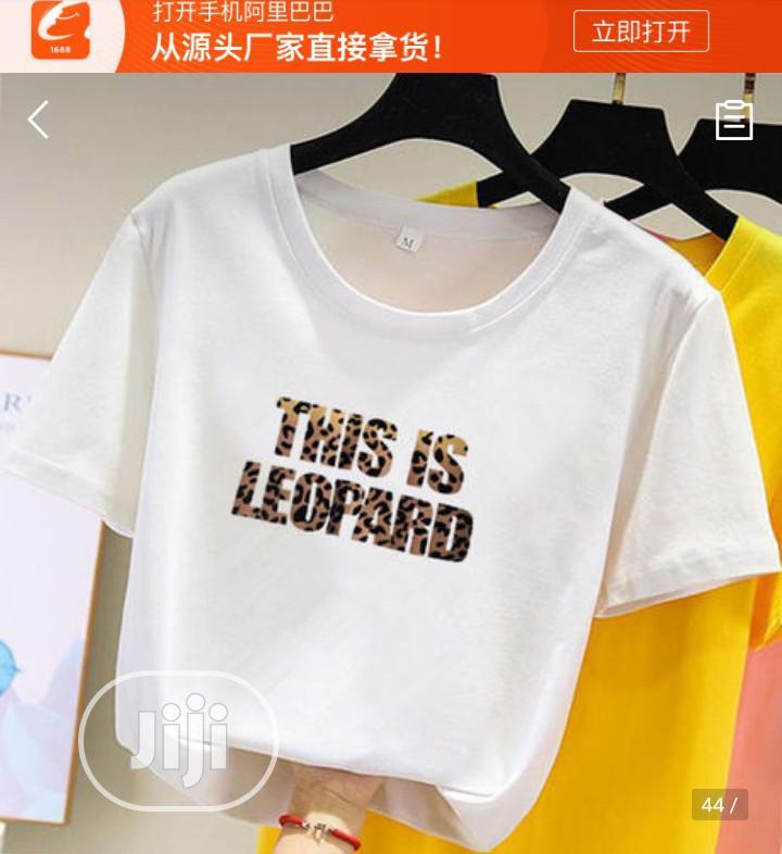 Archive: Leopard Cotton Tee Shirt- White