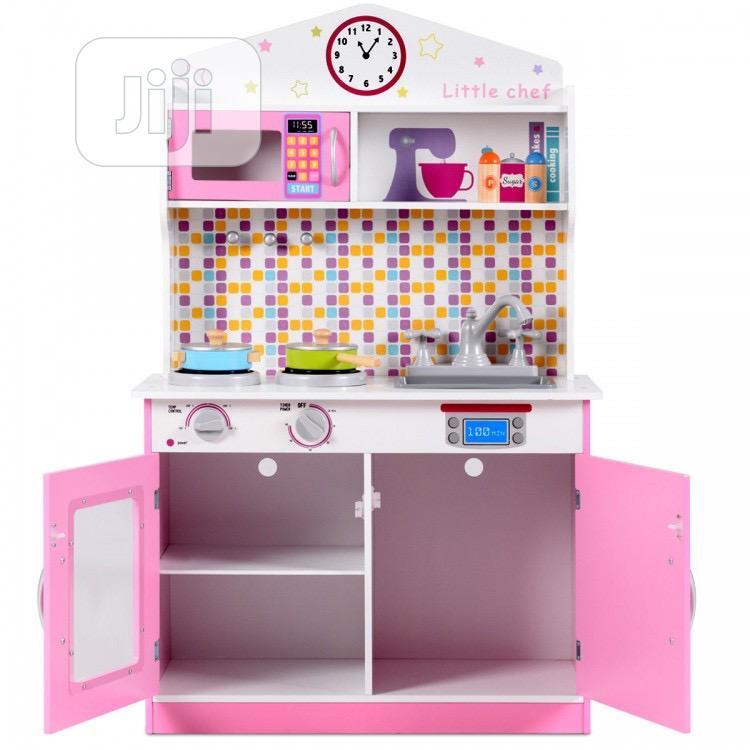 Kids Wooden Pretend Cooking Play Kitchen Set | Toys for sale in Lekki, Lagos State, Nigeria