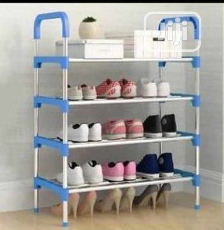4 Layers Anti Rust Stainless Steel Shoe Rack