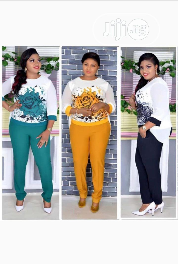 Ladies Chiffon Print Top and Trousers | Clothing for sale in Ikeja, Lagos State, Nigeria
