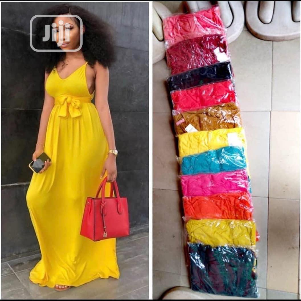 Archive: Summer Strap Dress/Gown (Available in Different Colours)