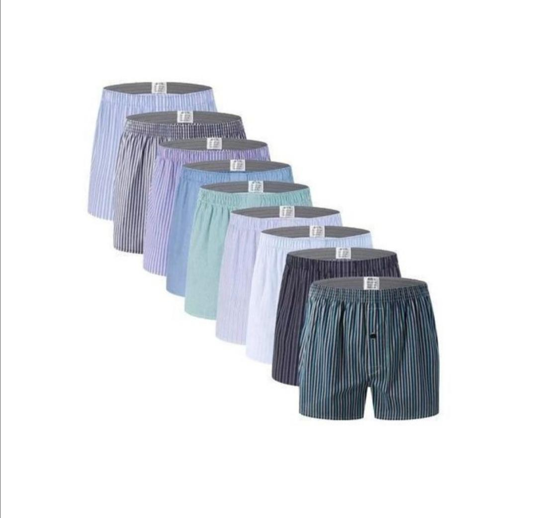 100% Cotton 12 Pieces Of Mens Boxer-colour /Pattern (Varies) | Clothing for sale in Ikeja, Lagos State, Nigeria