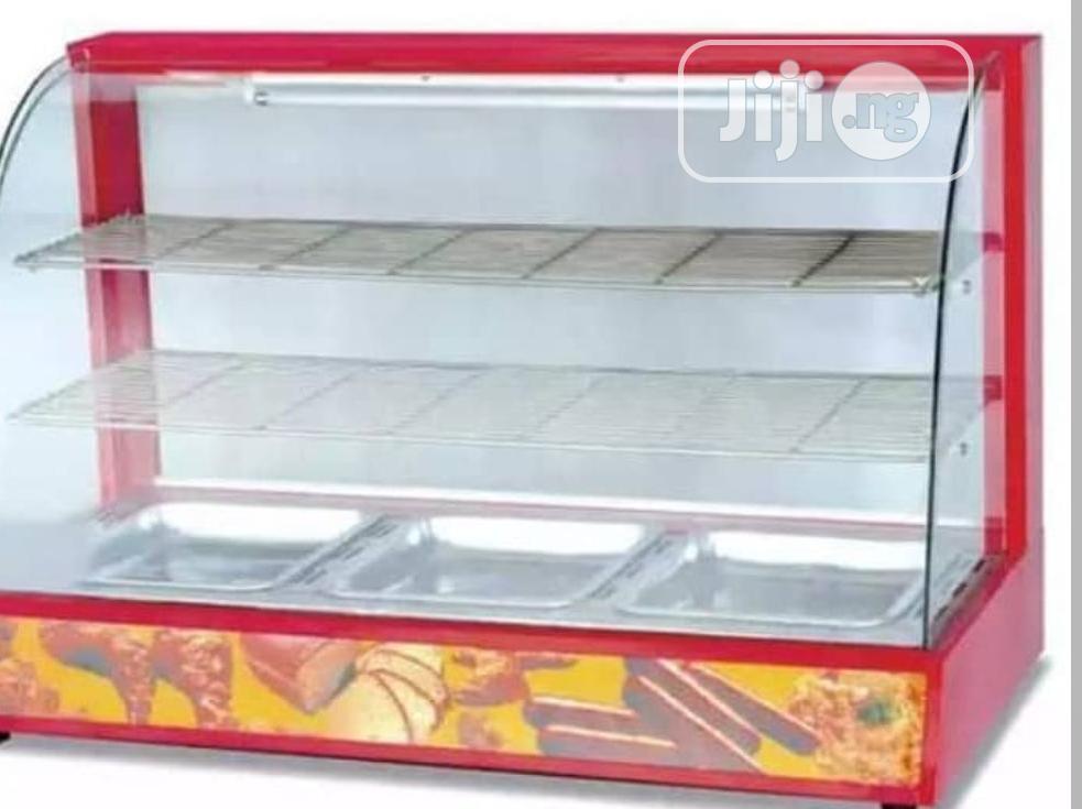 Red Snacks Display Warmers