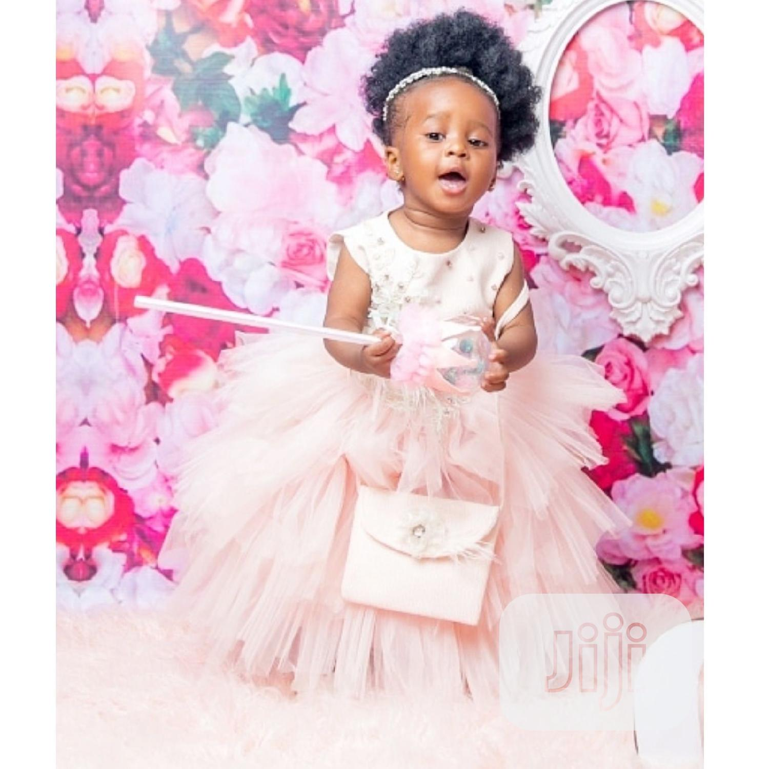 Girls Tiered Tutu Pink Dress | Children's Clothing for sale in Ojodu, Lagos State, Nigeria