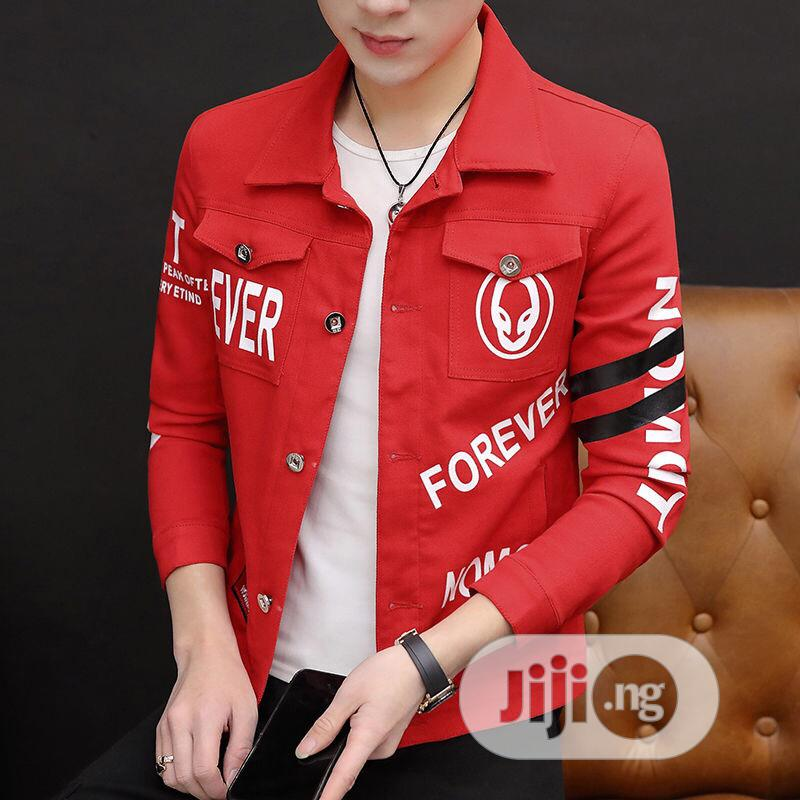 Denim Jackets, Men Hong Kong Baggy Brand Tide Denim Jackets | Clothing for sale in Lagos Island, Lagos State, Nigeria
