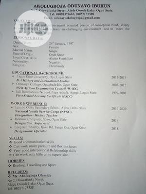 Secretary General | Clerical & Administrative CVs for sale in Ogun State, Ado-Odo/Ota