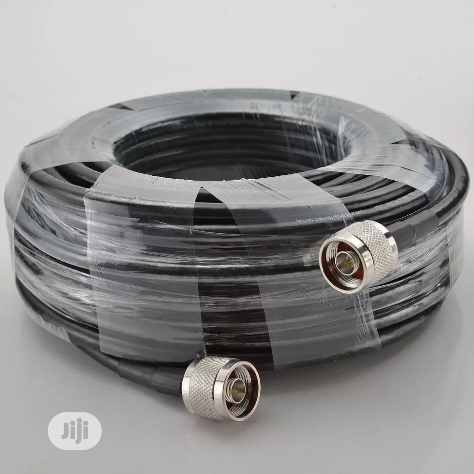 Black N Male 20 Meters GSM Booster Repeater Cable N-type Ant