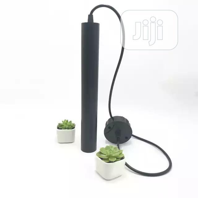 Alloy Cylindrical Long Pendant Lamp