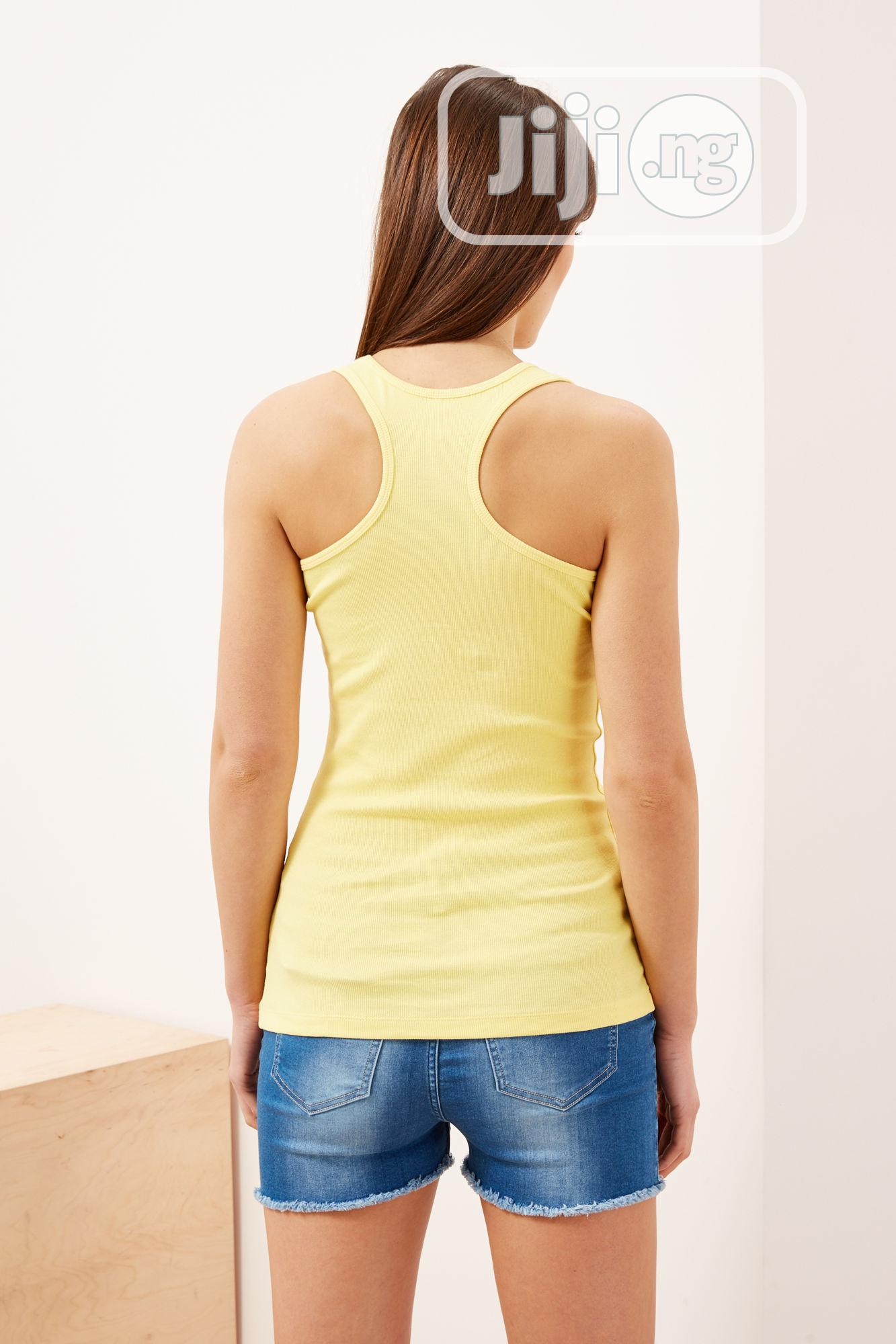 Moodo Women'S L-TS-2291 Yellow Tank Top | Clothing for sale in Ikeja, Lagos State, Nigeria