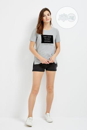 Moodo Women'S L-Ts-2305 Grey T-Shirt   Clothing for sale in Kano State, Kano Municipal