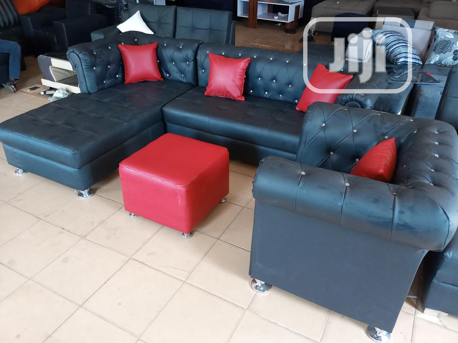 L-Shape Sofa With Single Seater Chair - Leather Couch